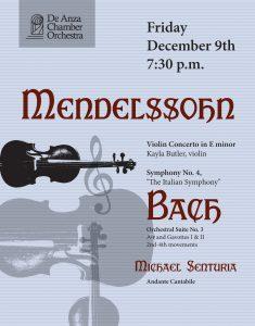 De Anza Chamber Orchestra Concert - Mendelssohn & Bach
