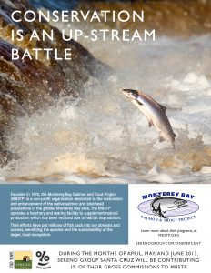 Sereno One Percent for Good Ad - Monterey Bay Salmon & Trout Project