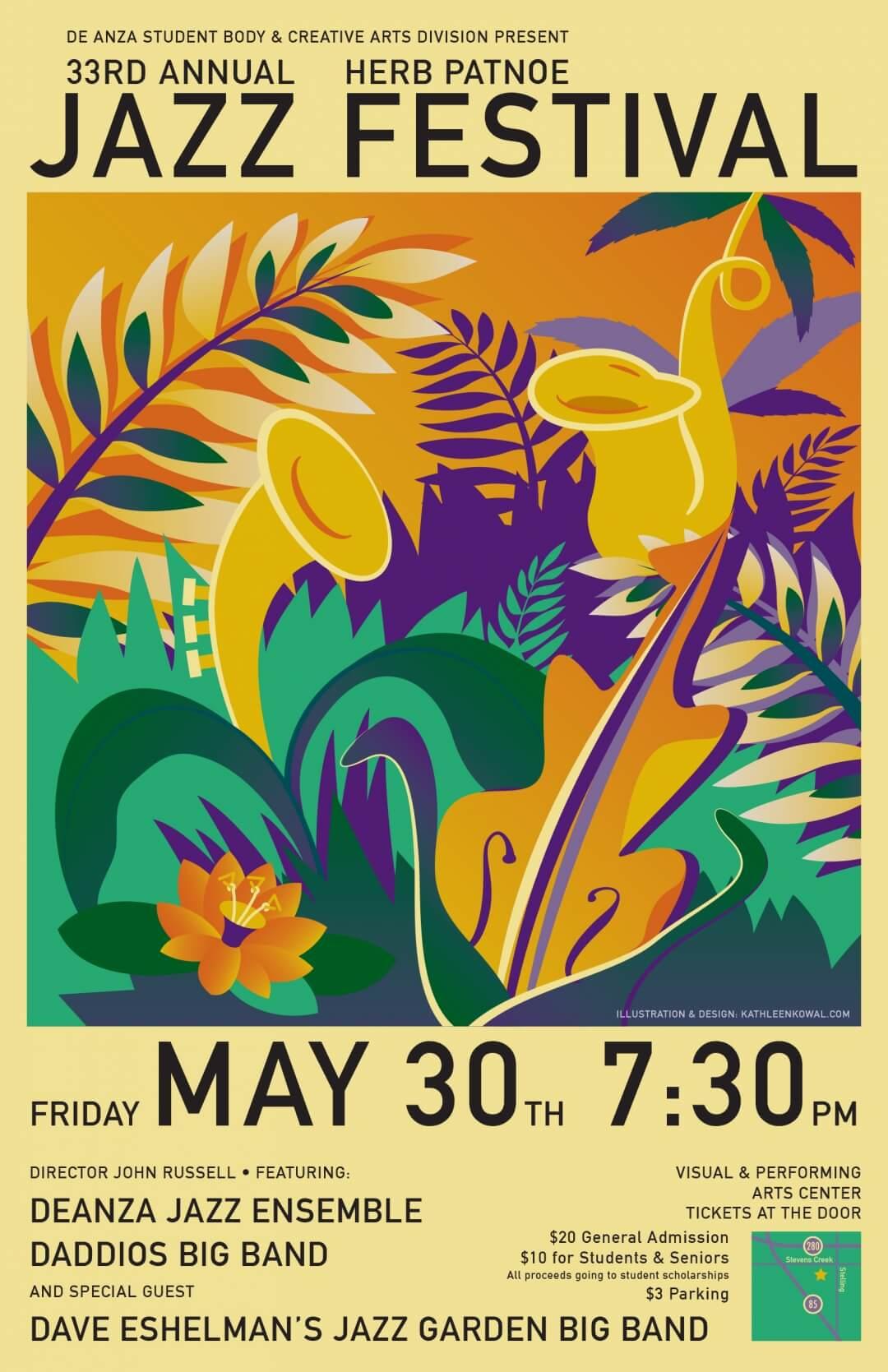 Jazz Garden Concert Poster