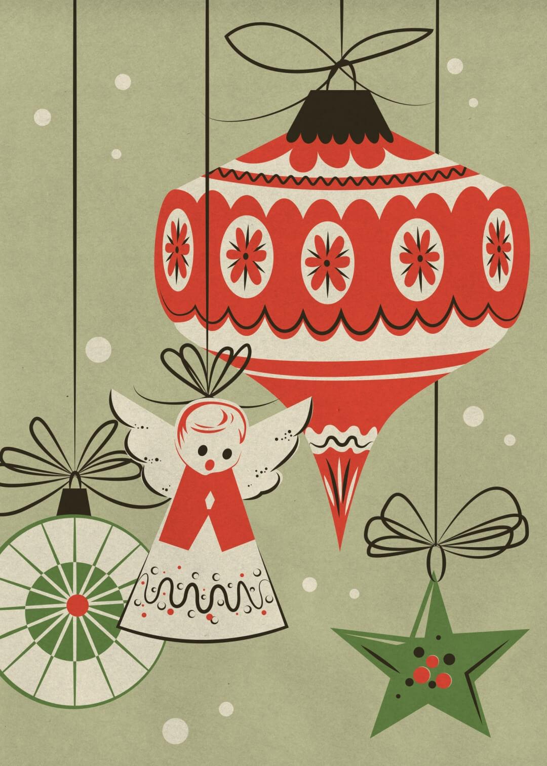 Retro Christmas Cards - Kathleen Kowal